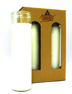 4-Pack White Wax | 8″ Tall Unscented Religious Prayer Candles | Devotional & Spiritual ...