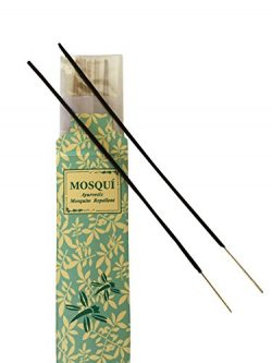All Natural Mosquito Repellent Incense Sticks with Ayurvedic herbal base, Made with blend of sev ...