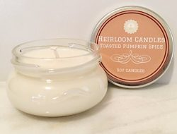 Toasted Pumpkin Spice Scented Soy Candle – Spice Candle – Handmade, 3.3oz