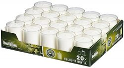 Bolsius Set Of 20 Relight Party, Restaurant Votive Candles In Clear Cup Burns Aprox. 24 Hour
