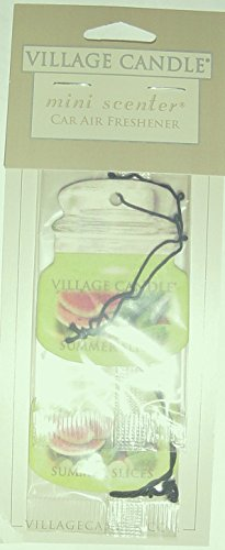 Village Candle Mini Scenter Car Candle Air Freshener Smmer Slices