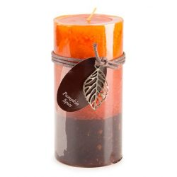 Dynamic Collections Layered Candles, Pumpkin Spice, 6-inch Pillar