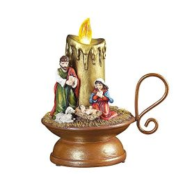 Lighted Christmas Musical Nativity Candle