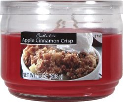 Candle-lite Essentials 3 Wick 10-Ounce Apple Cinnamon Crisp Terrace Jar Candle