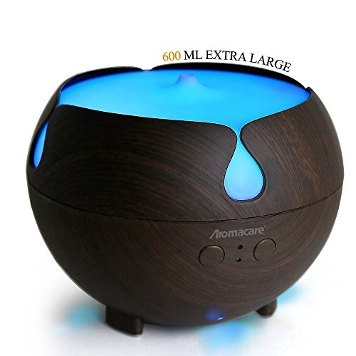 Aromacare Large Essential Oil Diffuser,600ml Aromatherapy Diffuser Cool Mist Humidifier,Waterles ...