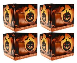 Set of 4 Starlyte Food & Aroma Scented 3 Oz Candles In Glass Jar (Pumpkin Spice)