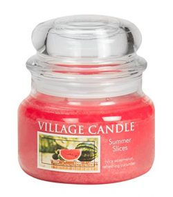 Village Candle Summer Slices 11 oz Glass Jar Scented Candle, Small