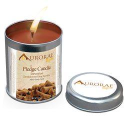 Aurorae 6.8 oz Sandalwood Scented Soy Aromatherapy Candle