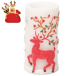 Flameless Candles with Timer, Battery Operated Candles for Halloween Decorations & Christmas ...