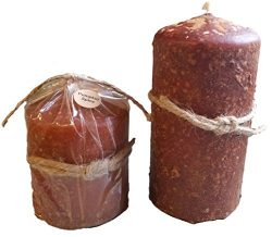 Primitive Scented Hand Poured Grungy Candles (Pumpkin Spice, 6 Inch Pillar)