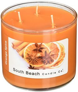 South Beach Candle Orange Spice Scented Soy Candle, 16-Ounce