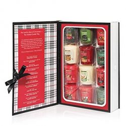 Yankee Candle 12 Days of Christmas Book Box Votive Candle Gift Set