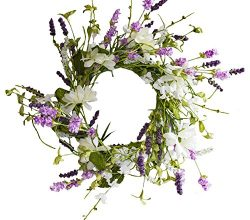 Warm Glow Candle Company Spring Hearth Candle Ring, Purple & White