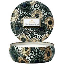 Voluspa Decorative 3 Wick Candle inTin/French Cade & Lavender, 12oz Tin