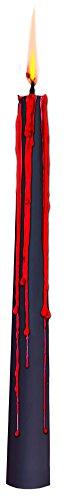 2 Bleeding Candle Sticks Set Black Bleeds Red Decoration Decor Prop Halloween