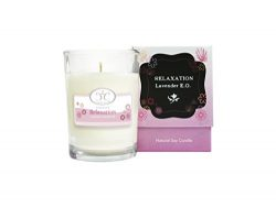 Aromatherapy Essential Oil Soy Candle – Natural, Lavender Scented, Improves Your Quality o ...