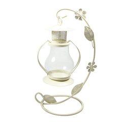 Highpot Romantic Candlestick Vintage Candle Holder European Style Metal Pillar Candelabra Weddin ...