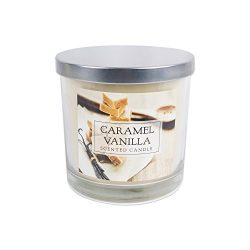 Home Traditions 3-Wick Evenly Burning Highly Scented 4×4″ Large Jar Candle with 40+ H ...