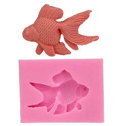 Let'S Diy Goldfish 3D Fondant Cake Molds 9×6.8×1.1 cm Bakeware Chocolate Moulds  ...
