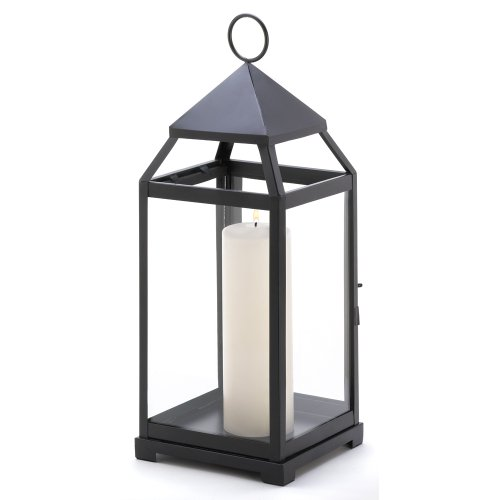 Gifts & Decor Large Contemporary Hanging Metal Candle Holder Lantern