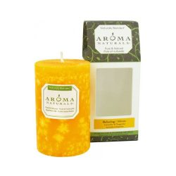 Aroma Naturals Pillar Candle – Relax Tang – 2.5 inches x 4 inches