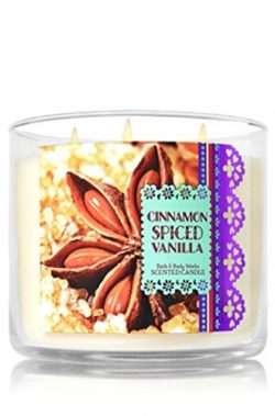 Bath & Body Works Candle 3 Wick 14.5 Ounce Cinnamon Spiced Vanilla