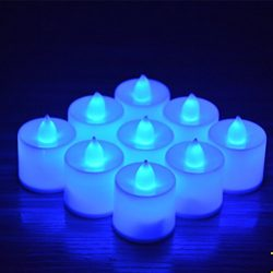 24pcs Battery Operated Candles,Winzik Flameless LED Tealight Candles,Votive Style,Valentine̵ ...