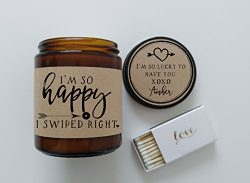 Swiped Right Gift for Girlfriend Gift for Boyfriend Gift Valentines Day Gift So Happy I Swiped R ...