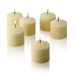 10 Hour Ivory Unscented Votive Candles Set of 12 MADE IN USA