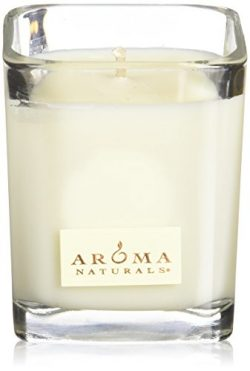 Aroma Naturals 100 Percent Natural Meditation Square Glass Soy Candle, Patchouli and Frankincens ...