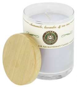 Terra Essential Scents – Massage & Aromatherapy Soy Candle Chamomile, Lavender & T ...