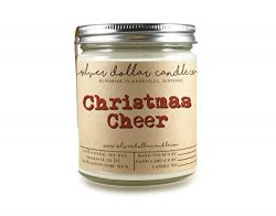 Christmas Cheer Scented Candle Handmade | 8oz, Hand-poured 100% Soy Wax | Cinnamon, Clove, Nutme ...