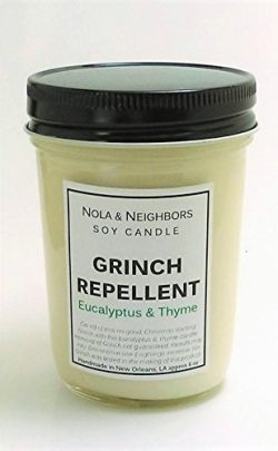 Christmas Candle – Grinch Repellent – Eucalyptus and Thyme Candle – Eucalyptus ...