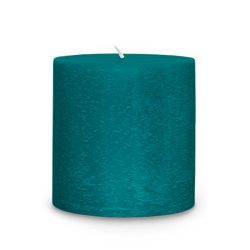 Root Legacy Scented Timberline Pillar Candle, 3 x 3-Inch, Blue Basil