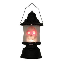 Adorox LED Skull Lantern Flashing Music Sounds Light up Scary Skeleton Candle Horror Party Prop  ...