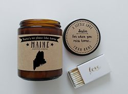 Maine Scented Candle Missing Home Homesick Gift Moving Gift New Home Gift No Place Like Home Sta ...