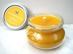 Pure Vanilla Beeswax Candle – Pure Organic Beeswax, Vanilla Honey Candle – Handmade, 8oz