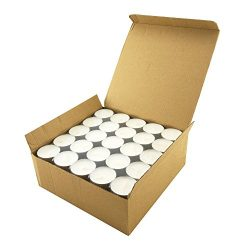 Long Burning Tealight Candles – 8 Hours – White – Unscented – 100 Pack