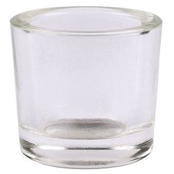 Bluecorn Beeswax Heavy Glass Votive and Tea Light Candle Holders (1, Clear)
