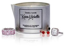 Scented Massage Oil Candle – Strawberry and Champagne Aromatherapy | Destiny Candle by Kar ...