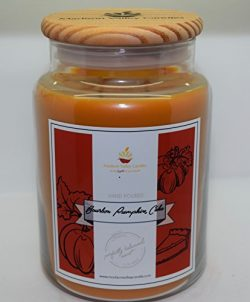 Strong Scented Bourbon Pumpkin Cake Crackling Wood Wick Soy Candle 26oz By Madison Valley Soy Ca ...