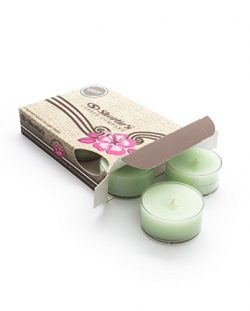 Christmas Tree Green Tea Light Candles 6 Pack – Highly Scented, Hand Poured, & Clean B ...