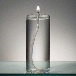 6-Inch Refillable Glass Pillar Candle – Memory, Unity and Window Candle without the Wax Me ...