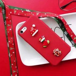 iPhone 6/6S Plus Case,iPhone 6/6S Plus 3D Christmas Case,Goodaa Cute Lovely 3D Christmas Hat Soc ...