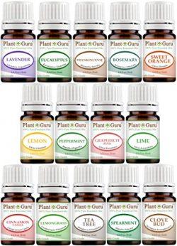 Essential Oils Set 14 – 5 ml Pure Therapeutic Grade Includes Frankincense, Lavender, Peppe ...