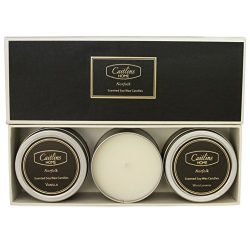 Scented Candles Aromatherapy Soy Wax Candle Gifts 3 Pack Tin Vanilla, White Lavender, Fresh Rose ...