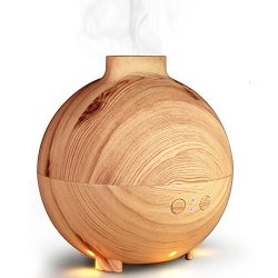 Zenoplige 600ML Globe Essential Oil Diffuser with Water Aromatherapy Cool Mist Humidifier Ultra  ...