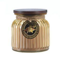 Zingz and Thingz Vanilla Cinnamon Ribbed Jar Candle