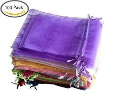 Organza Drawstring Pouches Gift Bag Jewelry bags, 5×7 inch and 4×6 Inch Velvet Candy P ...