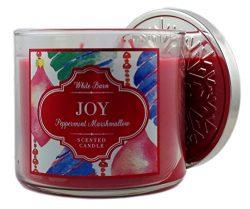 Bath & Body Works Candle 3 Wick White Barn Joy Peppermint Marshmallow